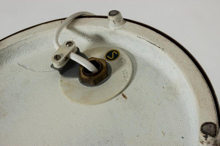 White Lacquer Floor Lamp by Bertil Brisborg For Sale 3