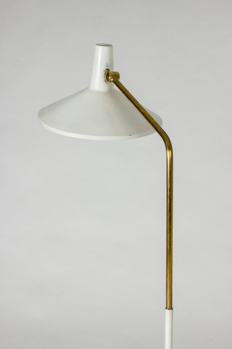 Mid-20th Century White Lacquer Floor Lamp by Bertil Brisborg For Sale