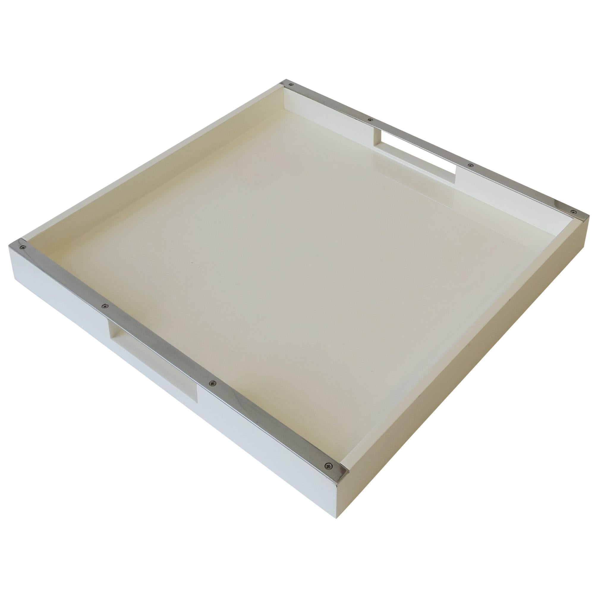 White Lacquer Serving Tray