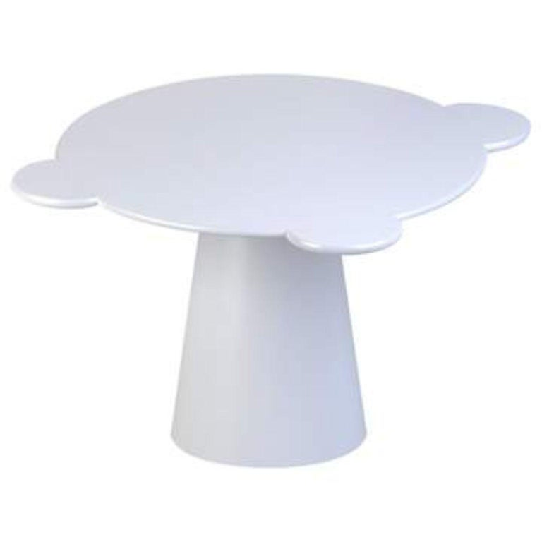 White lacquered wood contemporary Donald table by Chapel Petrassi Dimensions: ? 140 x 77,5 cm Materials: White lacquered wood   Chapel Petrassi is a contemporary design and manufacturing company based in Paris and Naples founded by designers