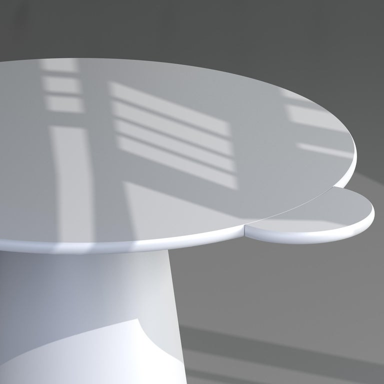 Modern White Lacquered Wood Contemporary Donald Table by Chapel Petrassi For Sale