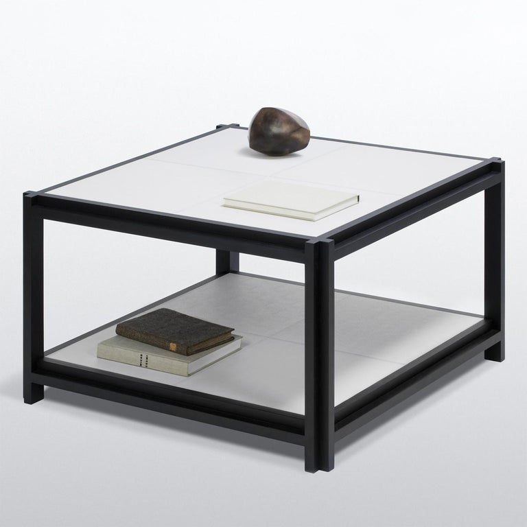 White Leather II Coffee Table For Sale 1