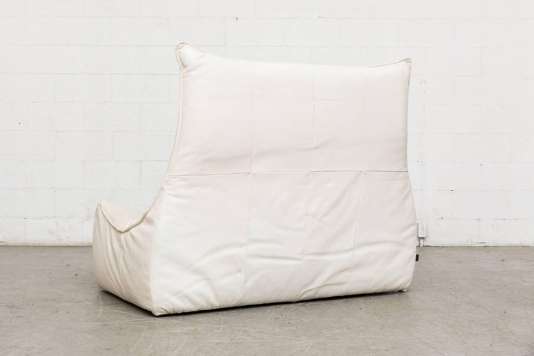 Late 20th Century White Leather