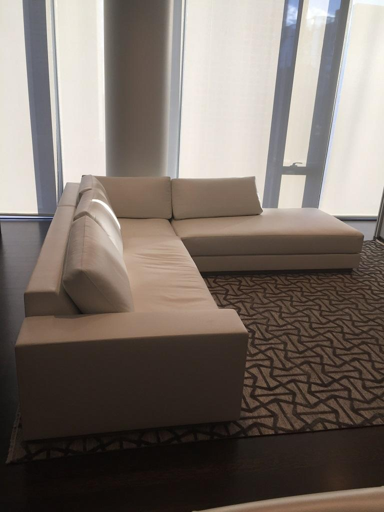 White Leather Sectional Atelier Gary Lee Chai Ming