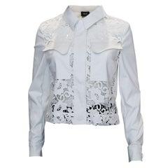 White Liu Jo Milan Jacket with Lace Detail
