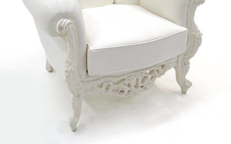 Post-Modern White Louis II Armchair by Pieter Jamart for Sixinch, Spain For Sale