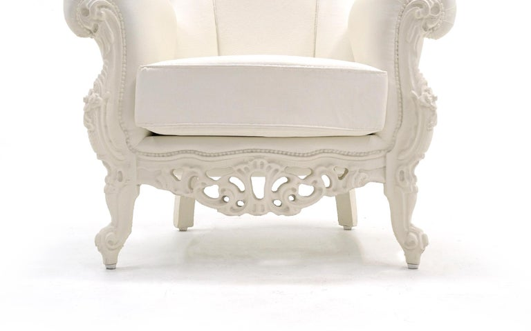 Spanish White Louis II Armchair by Pieter Jamart for Sixinch, Spain For Sale