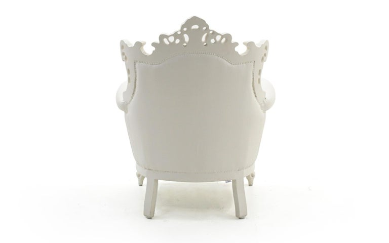 White Louis II Armchair by Pieter Jamart for Sixinch, Spain For Sale 2