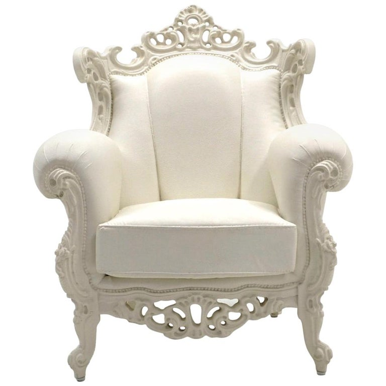 White Louis II Armchair by Pieter Jamart for Sixinch, Spain For Sale