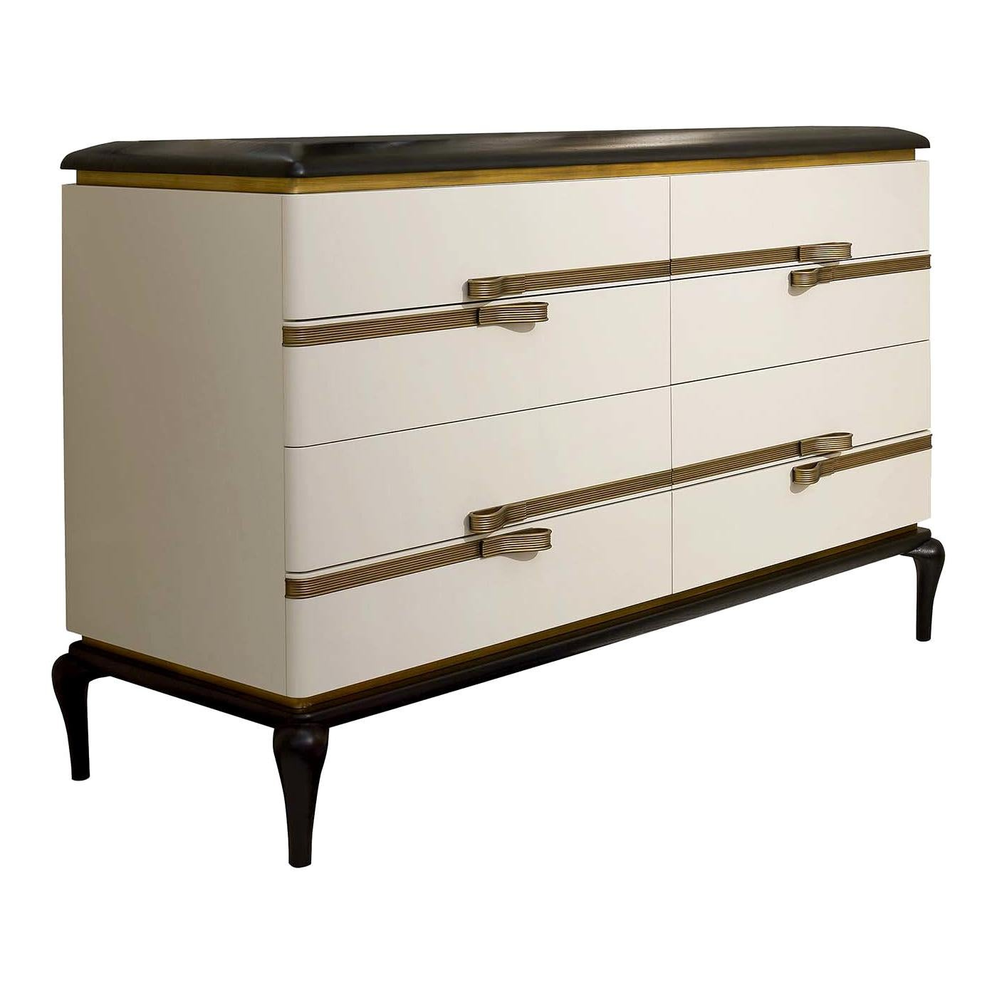 White Low Dresser