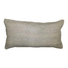 White Lumbar Minimalist Kilim Pillow