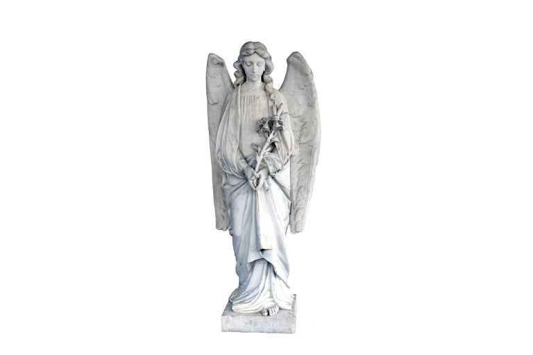 This is a very beautiful angel made by marble. The angel is in an excellent condition and very detailed.