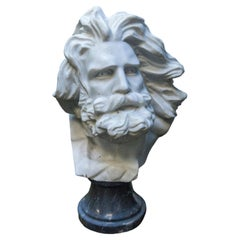 White Marble Bust of a Bearded Man