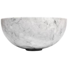 Veneciano white marble carved large Bowl