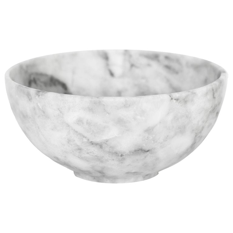 White marble carved small Bowl For Sale
