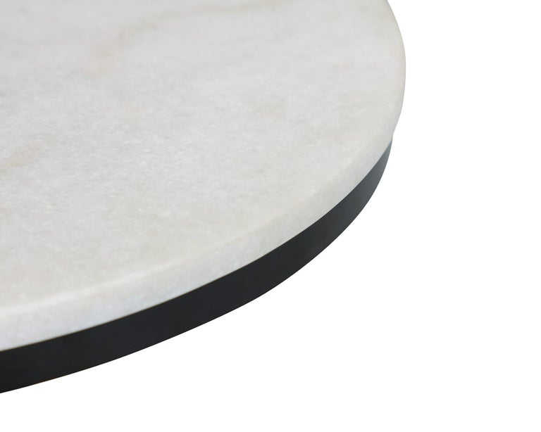White marble and brass coffee table