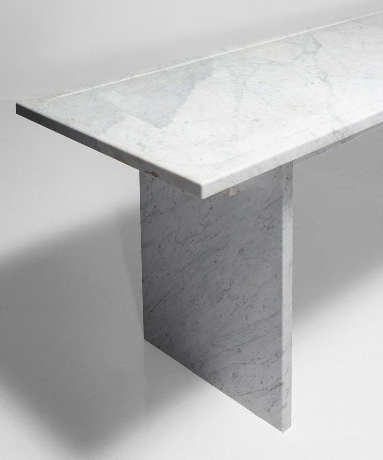 20th Century White Marble Console For Sale