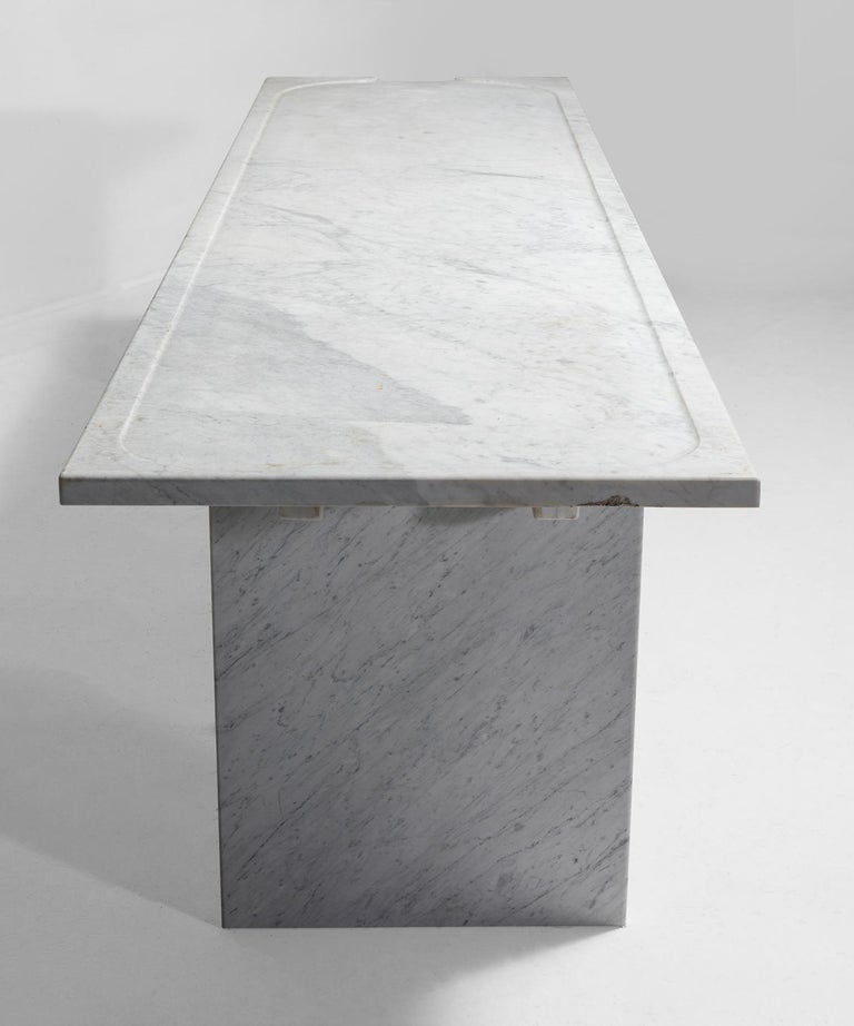 White Marble Console For Sale 1