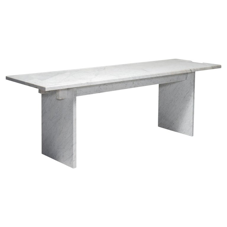 White Marble Console For Sale