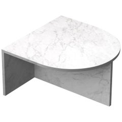 "White Marble ""Fifty Oblong"" Coffee Table, Sebastian Scherer"