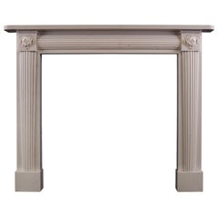 White Marble Fireplace in the Regency Manner