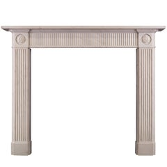 White Marble Fireplace in the Regency Style
