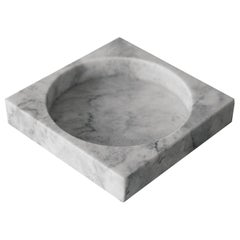 White Marble Low Cube