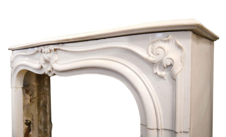 North American White Marble Mantel