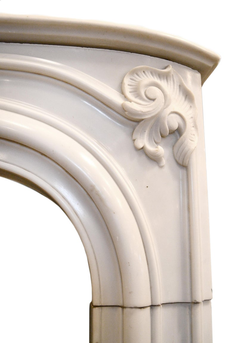 Early 20th Century White Marble Mantel
