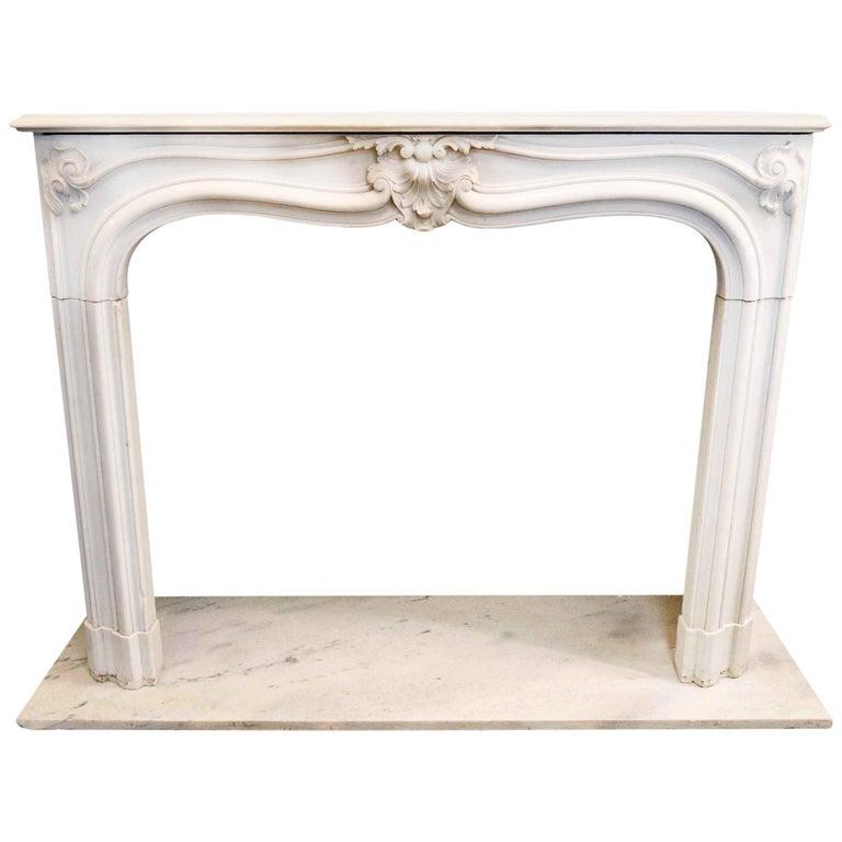White Marble Mantel