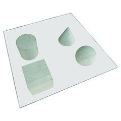 White Marble Metafora Table Designed by Massimo & Lella Vignelli