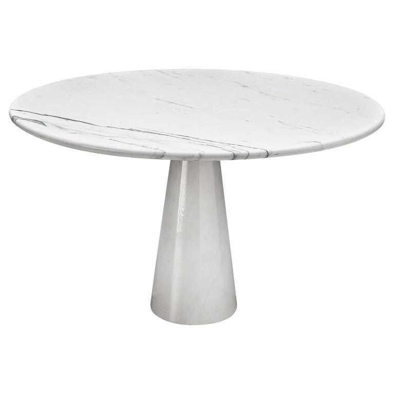 White Marble Pedestal Dining Table For Sale At 1stdibs