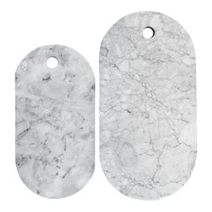 White Marble Pill Cheese Boards Set