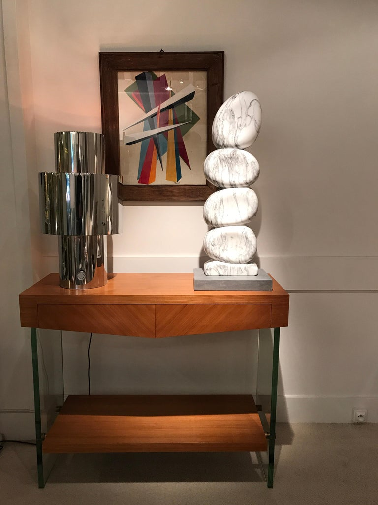White Marble Sculpture by Jean Frederic Bourdier For Sale 6