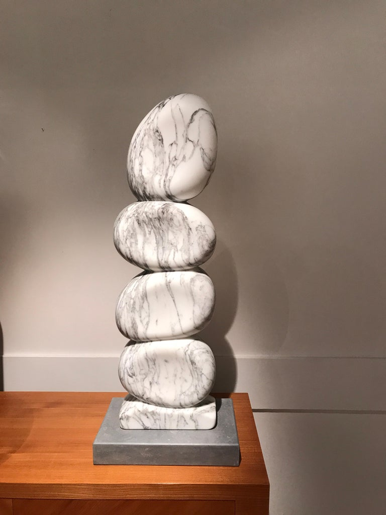 French White Marble Sculpture by Jean Frederic Bourdier For Sale