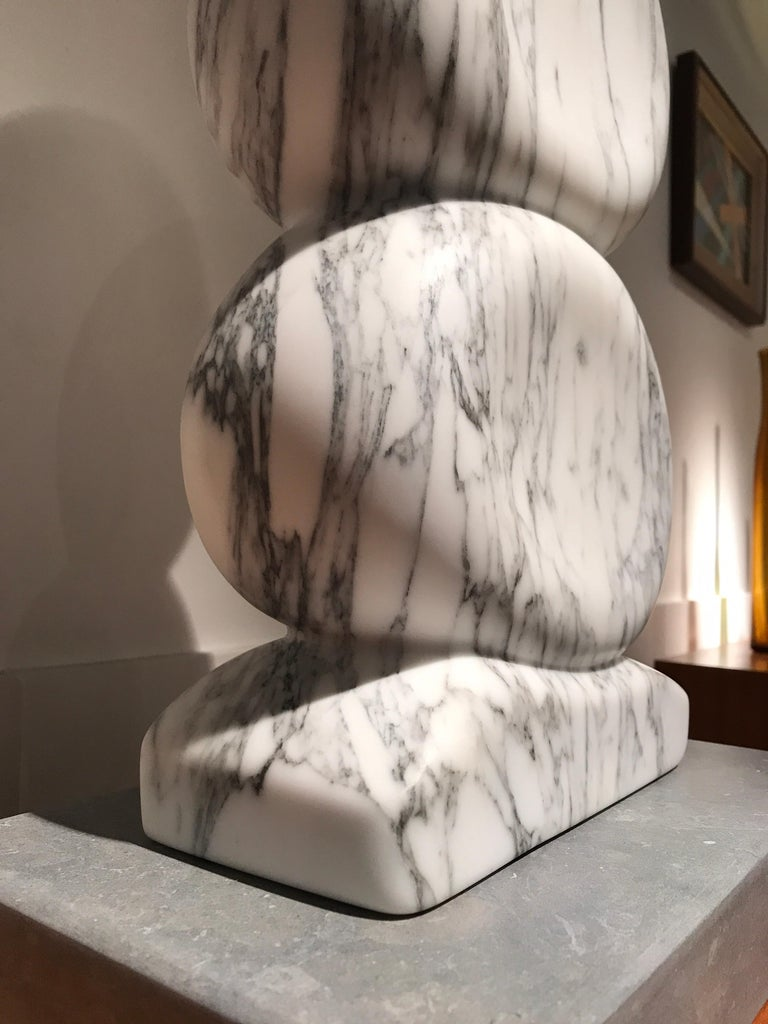 White Marble Sculpture by Jean Frederic Bourdier For Sale 1