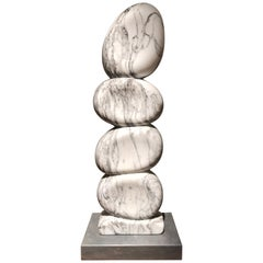 White Marble Sculpture by Jean Frederic Bourdier