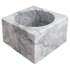 White Marble Tall Cube