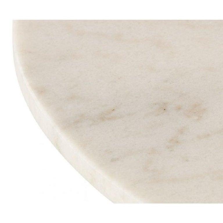 Modern White Marble Tube Black High Table 900mm For Sale