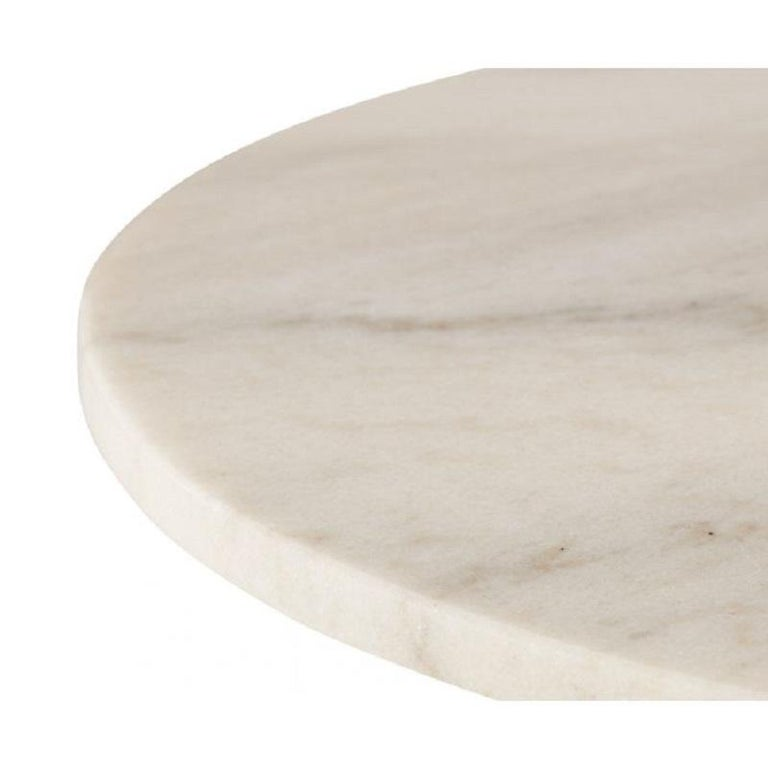 Chinese White Marble Tube Black High Table 900mm For Sale