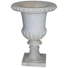 White Marble Urn, Italian, 19th Century