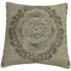 White Medallion Rug Pillow