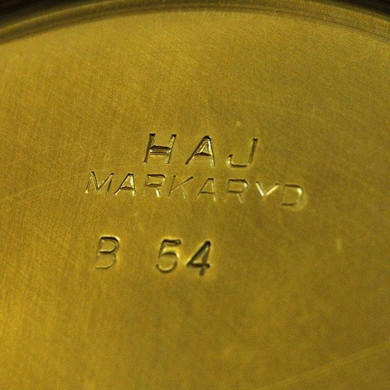 White Metal and Teak Table Lamp B54, Hans Agne Jakobsson, 1950s, Sweden For Sale 3