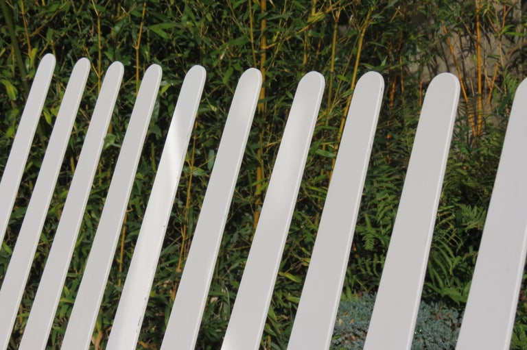 20th Century White Metal Modern Design Bench, 1990s For Sale