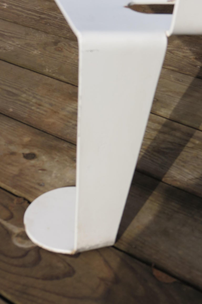 White Metal Modern Design Bench, 1990s For Sale 2