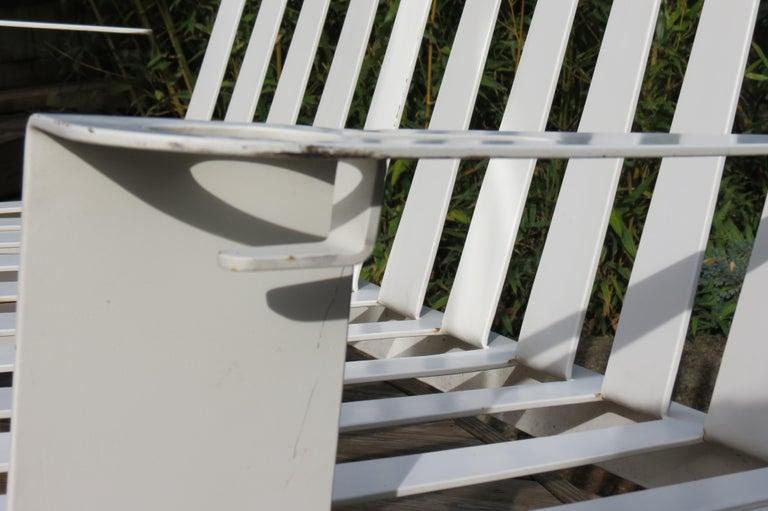 White Metal Modern Design Bench, 1990s For Sale 3