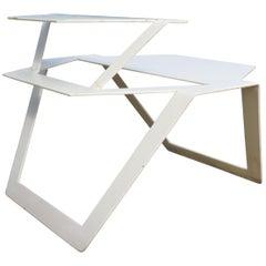 White Metal Modern Design Table, 1990s