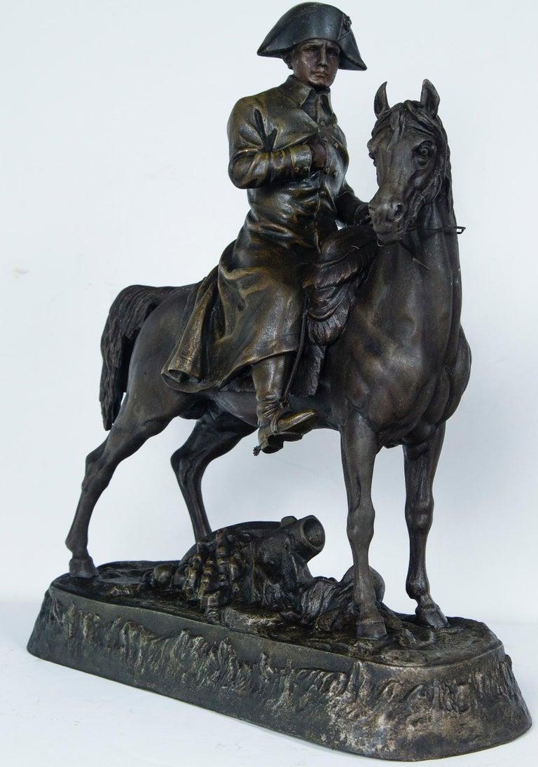 White Metal Napoleon on Horseback For Sale 3