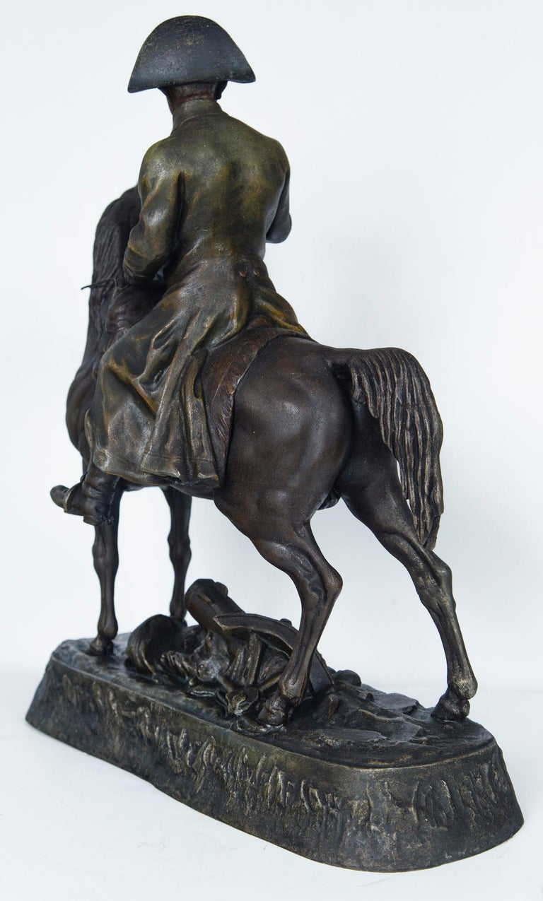 White Metal Napoleon on Horseback For Sale 2