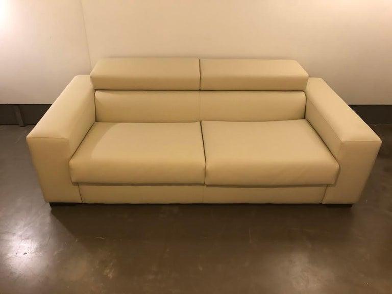 German White Mid-Century Modern Set of Sofas For Sale